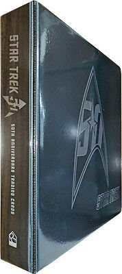 Star Trek 50th Anniversary Trading Card Binder Album with P3 Promo