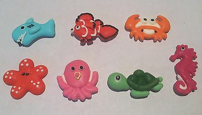 14 x Edible 2D Sea Critter Cupcake Toppers Decorations Party Cakes Under the Sea