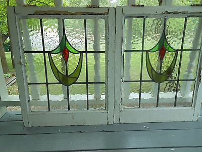 MA10-176 Very Pretty Older Leaded Stained Glass Window From England 2 Available