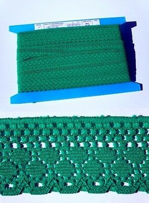 Flat Lace Emerald Green (170) - 33 metres
