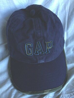 GAP Kids Boys Navy Blue Baseball Camouflage Cap Hat S/M Flexseam Cotton