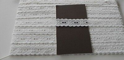 Card of New Lace - White Broiderie Anglaise A
