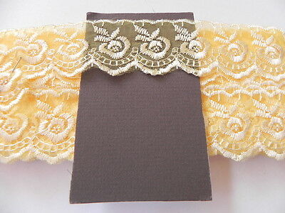 Golden Yellow Silky embroidered Lace - 4cm