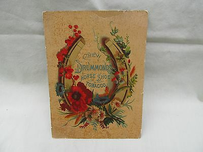 1800's Large Victorian Trade Card / Drummond's Horse Shoe Tobacco