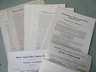 30 Old Pages Western Canada Power Company 1916 Shareholders Info