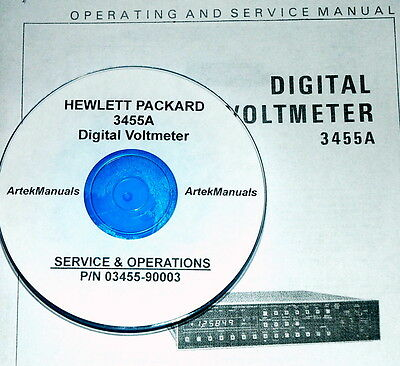 Hewlett Packard Operating & Service Manual for 3455A Digital Voltmeter