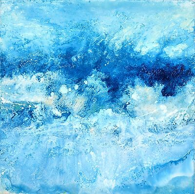 Seaview- Acrylic Modern Original Art By Caroline Ashwood Art On Canvas Painting