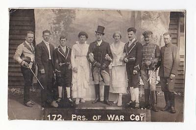 172 Prisoner Of War Coy Theatre Production Real Photo Postcard