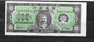 China Chinese Hellnote 100 Unused Banknote Note Currency Paper Money
