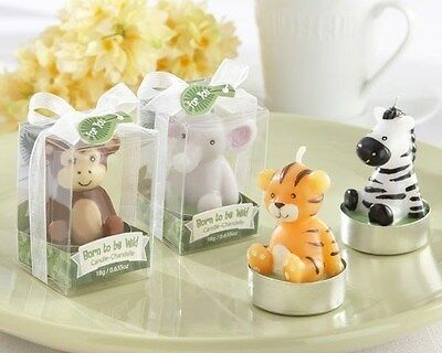 32 Assorted Born to be Wild Animal Candle Baby Shower Gift Favors