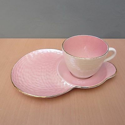 Vintage Maling Pink And Pearl Lustre Tennis Set - Cup And Saucer
