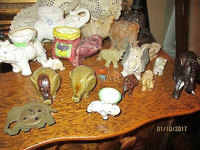 LOT of ELEPHANT Figurines and ELEPHANT collectibles for the Elephant Enthusiast