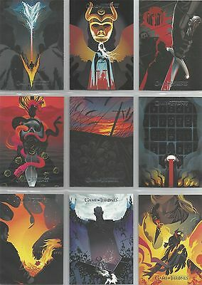 "Game of Thrones Season 6 ""Beautiful Death Poster Art"" 20 Card Chase Set #BD41-60"