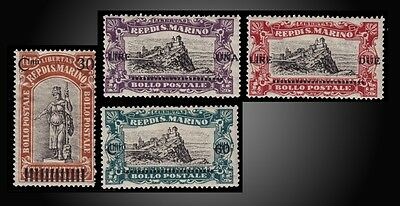 1924 Statue Of Liberty And View San Marino Ovp. New Values  Scott 89 -92