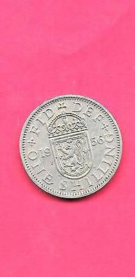 Great Britain Gb Uk Km905 1956 Vf-Very Fine-Nice Old Vintage Shilling Coin