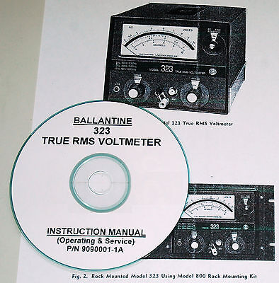 Ballantine 323 TRUE RMS Voltmeter, Operating & Service Manual