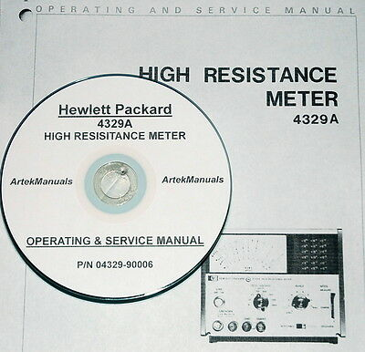 Hewlett Packard Operating & Service Manual for the 4329A High Resistance Meter
