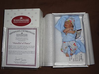 "Ashton Drake Galleries Baby Doll. 4.5"" 'Handful Of Peace. Box/Cert."