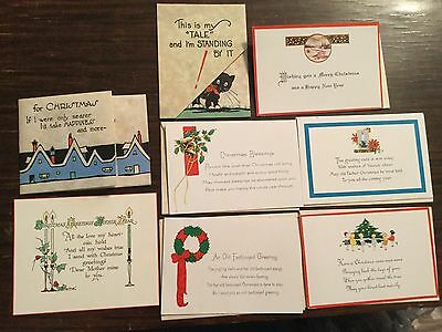Lot of 8 different vintage 1940's unused Christmas cards