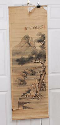 """Chinese Scroll Painting This Old Scroll Painting is 58"""" X 19¼"""" in size"""
