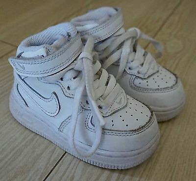 NIKE Air Force 1 Sneakers Shoes White 314197-113 Infant Baby Boys Size 5C