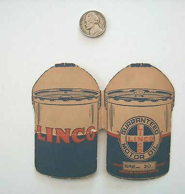 Vintage LINCO Motor Oil-Advertising Folding Card with Ladies Sewing Needles-