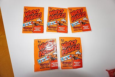 Lot of 5 Vintage Wacky Packages Stickers 8th Series Topps Wrappers Nice Folded