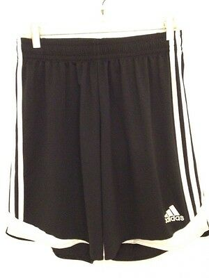 Youth Soccer Shorts Size Large Adidas Black & White