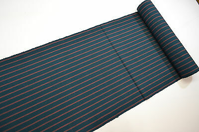 UN-USED WOOL BLEND with SILK KIMONO BOLT: Lovely stripe in Green and Pink@Z98y