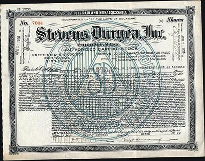 Stevens Duryea, Inc. (Classic Auto Manufacturer) 1920, Chicopel, Mass. Stock Cft