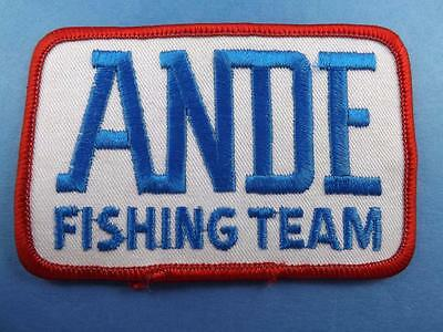 Ande Fishing Team Patch Fish Line Tackle Vest Angler Collector Cloth