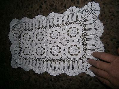 X 7 Vintage Large Crocheted Doilies & Runners