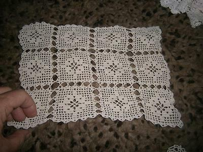 X 12 Vintage Crocheted Doilies Assorted Neutral Colours
