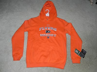 Philadelphia Flyers Pullover Hoodie Reebok Apparel Youth Medium New With Tags