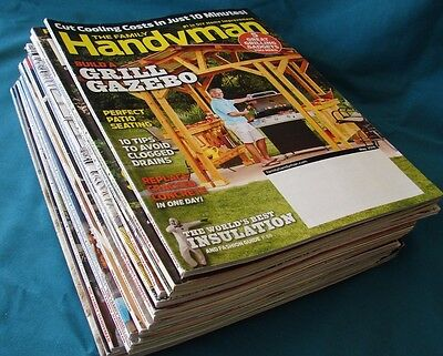 FAMILY HANDYMAN MAGAZINE + THIS OLD  HOUSE  HUGE LOT OF 31   2016-17 & few older