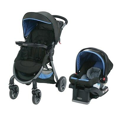 Graco FastAction Fold 2.0 Travel System with SnugRide Click Connect 35 Infant Ca