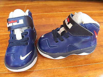 NEW NIKE Lebron James Soldier 7 Shoes Toddler BOYS Size 4C 616987 400 Dark Blue