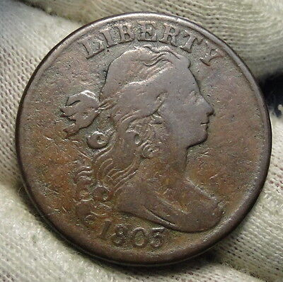 1803 Penny Draped Bust Cent 1 C - Nice Coin, Free Shipping  (3909)