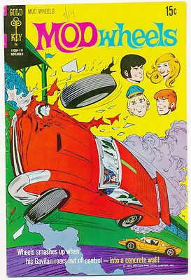 MOD WHEELS #4 G, Race Cars, Gold Key Comics 1971