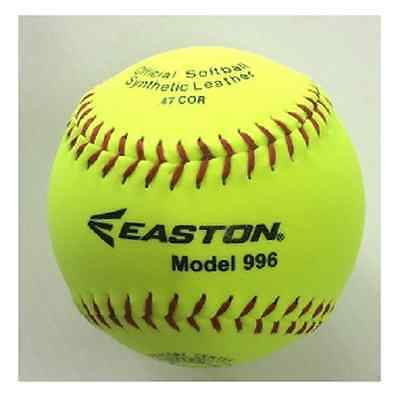 "12 x Easton 12"" Full Size Training Softball - Easton 996 NEW  :  1 dozen"
