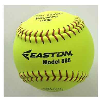 "Easton 12"" Full Size Match Softball - Easton 888   NEW"