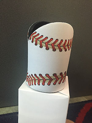 Baseball or Softball Stubby / Drink Cooler - Coaches Gift, Managers Gift WHITE