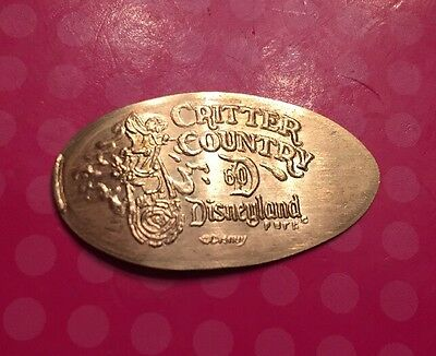 Critter Country 60th Disney Disneyland Elongated Pressed Penny Copper