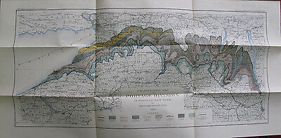Color Stratigraphic Map Portage Division Western New York Buffalo Dunkirk 1903