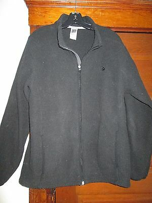 Mens Fleece Jacket By The North Face Size Large Black Full Zipper Nice