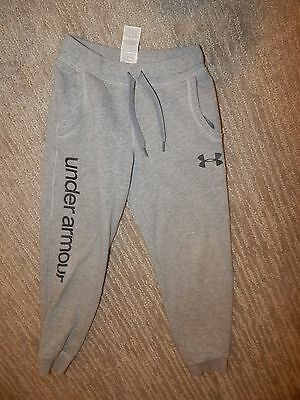 UNDER ARMOUR Gray Cotton Blend Sweatpants Unisex Youth Size Small Boy's / Girl's