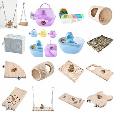 Various Rat Hamster Play Exercise Rodent Jogging Swing Toy Gerbil Sleeping Cage