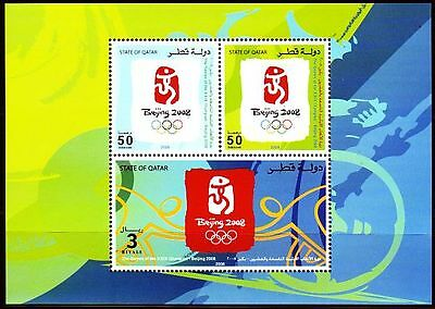 Qatar 2008 ** Bl.60 Olympic Games Olympische Spiele Peking China