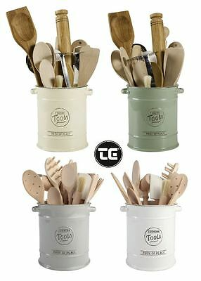 T&G Woodware Pride of Place Ceramic Cooking Tools Utensil Jar, 4 Colours