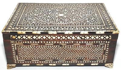 Excellent 18Th Early 19Th C Hoshiapur Anglo Indian Inlaid Dressing Box